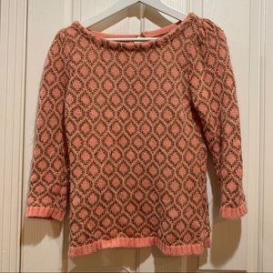 Anthropologie Dolce Vita Sweater Pink Gold Small